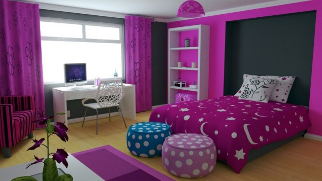AD Awesome Purple Girls Bedroom Designs 7