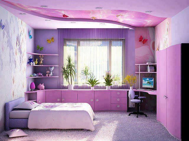 Girls Bedroom Purple best purple girls bedroom contemporary - home design ideas