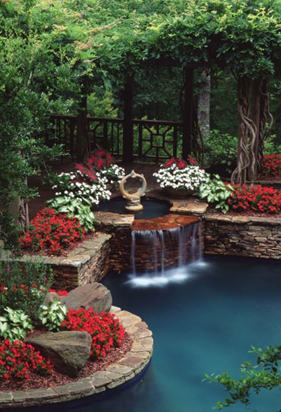 30 Beautiful Backyard Ponds And Water Garden Ideas ... on Backyard Garden Design id=62646