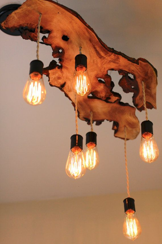 AD Beautiful DIY Wood Lams Chandeliers 1