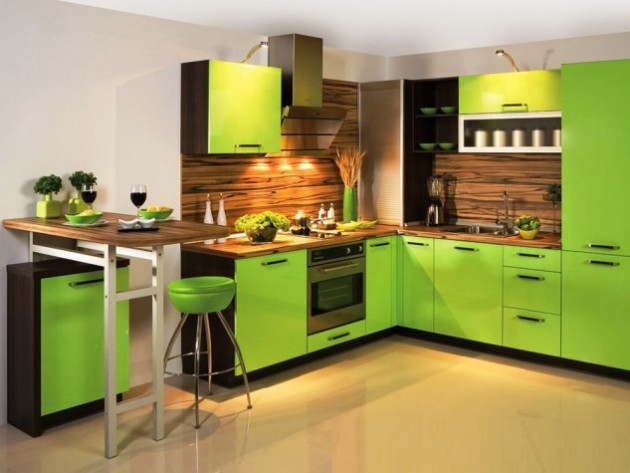 Elegant AD Love Green Kitchen Design Ideas 16