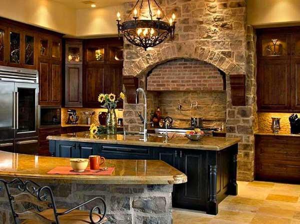 Superior AD Rustic Stone Kitchen 15