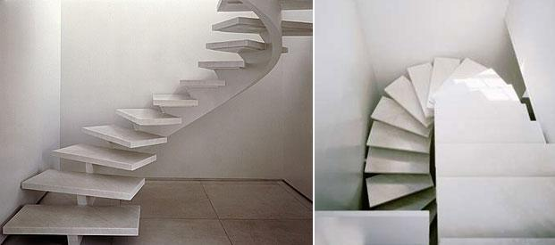 20 magnificent floating staircases for an elegant for Free floating stairs