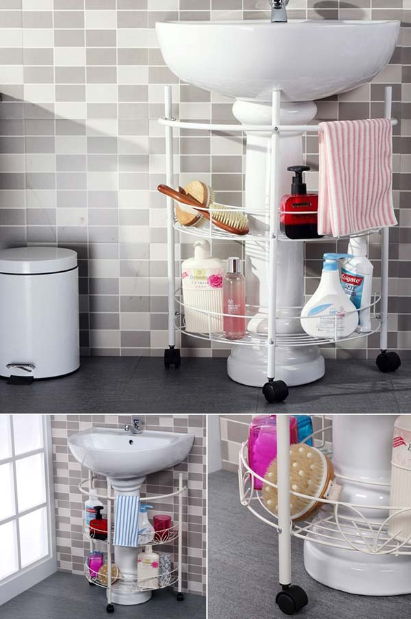 ad storage hacks in bathroom 11 - Diy Small Bathroom Storage