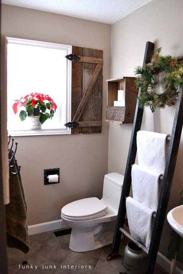Amazingly DIY Small Bathroom Storage Hacks Help You Store More - Bathroom towel storage over toilet for small bathroom ideas