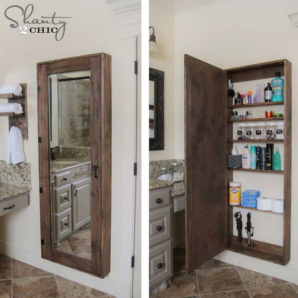 30+ Amazingly DIY Small Bathroom Storage Hacks Help You ...