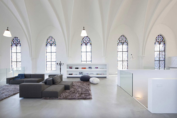 9-AD-Church Converted Into Modern Family Home, Holland-02
