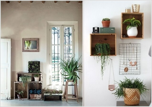 Stairs Wall Decor Ideas Plants