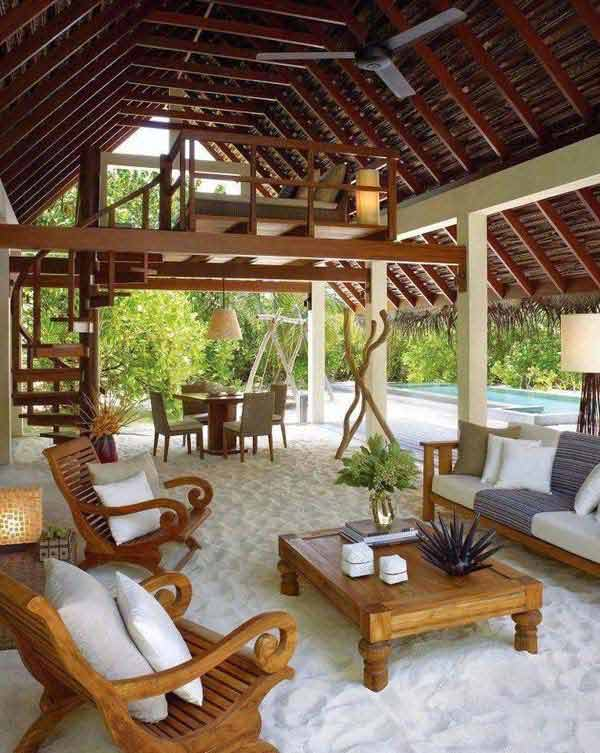 25 awesome beach style outdoor living ideas for your for Beach porch ideas
