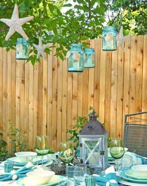 25+ Awesome Beach-Style Outdoor Living Ideas For Your ... on Nautical Patio Ideas id=94609