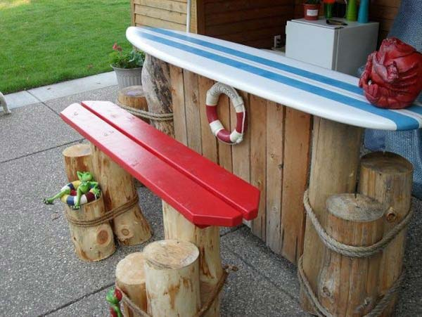 25 awesome beach style outdoor living ideas for your for Beach bar decorating ideas
