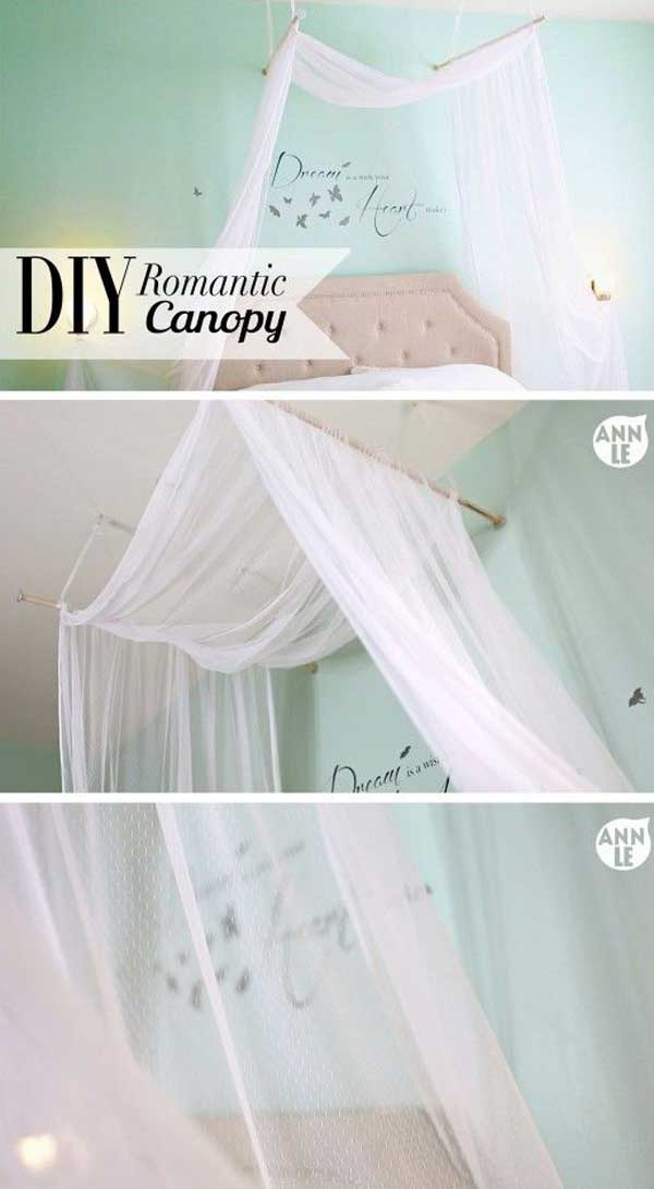 AD-DIY-Bed-Canopy-16 & 20 Magical DIY Bed Canopy Ideas Will Make You Sleep Romantic ...