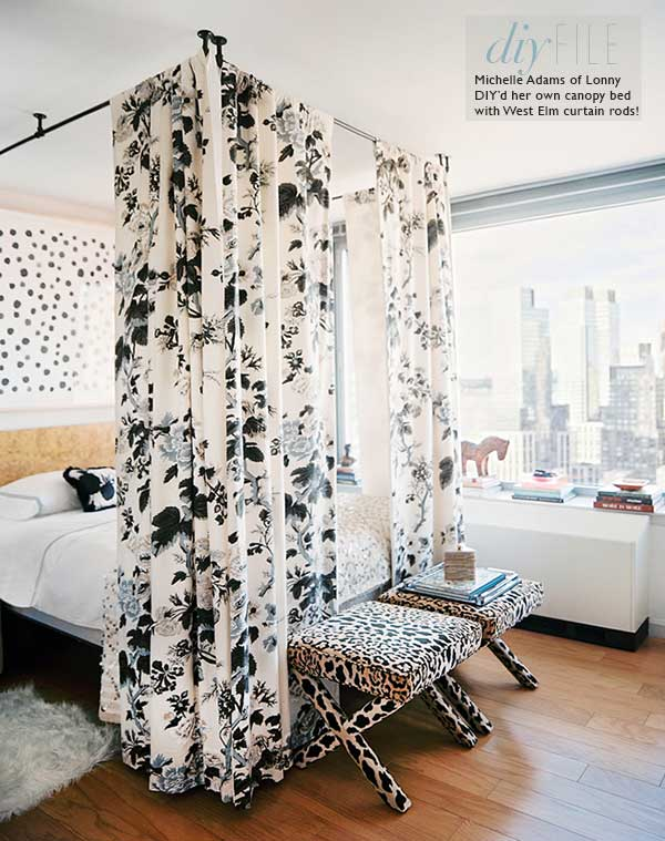 Make Your Own Bed Canopy Using Fabric