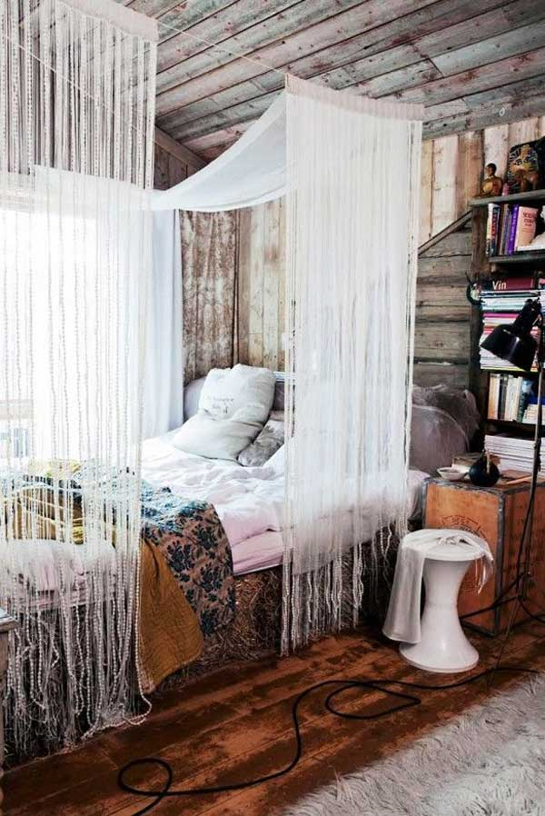 Wonderful Ideas For Canopy Bed Curtains Part - 7: AD-DIY-Bed-Canopy-5