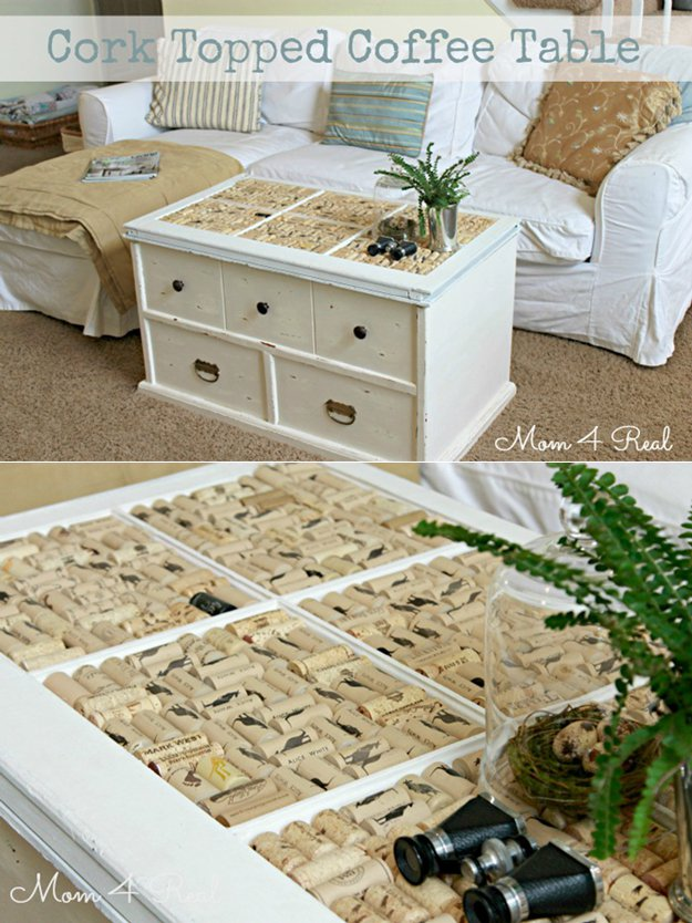 Wine Cork Topped Coffee Table Ad Diy Projects You Can Do With Corks