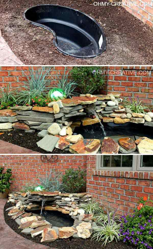 25 diy water features will bring tranquility relaxation to any rh architecturendesign net backyard water fountain ideas diy water feature ideas for small gardens