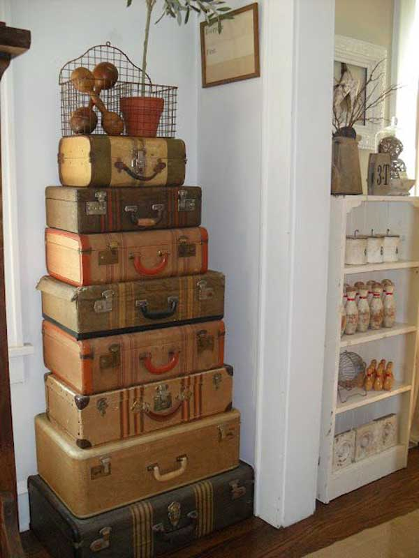 Old Suitcases Part - 48: AD-Old-Suitcases-Decor-25