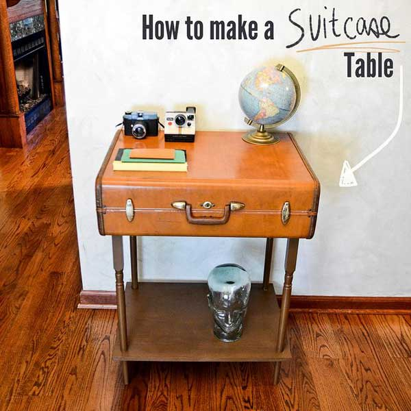 30 Fabulous DIY Decorating Ideas With Repurposed Old Suitcases ...