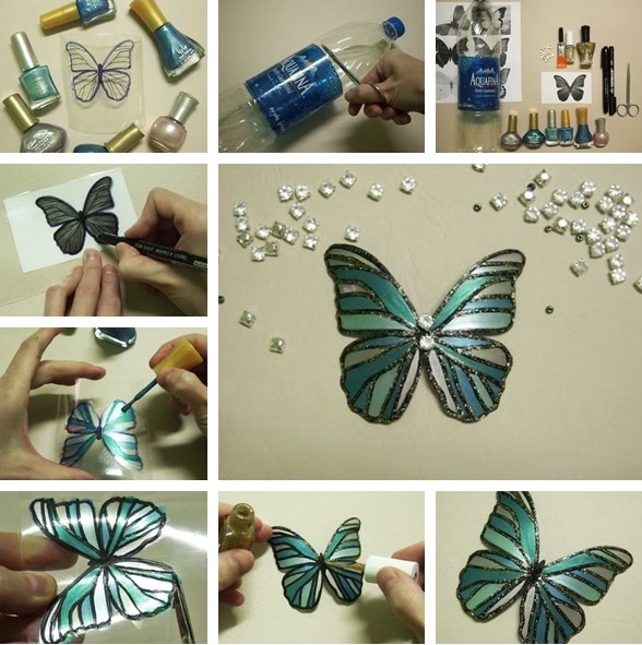 Colorful diy butterfly crafts projects to make your imagination flutter architecture design - Plastic bottles recycling ideas boundless imagination ...
