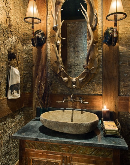 ad ideas that will add coziness and warmth - Rustic Bathroom