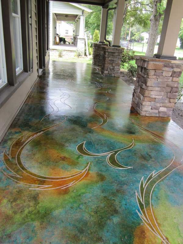ad indoor outdoor floor design ideas 15 - Floor Design Ideas