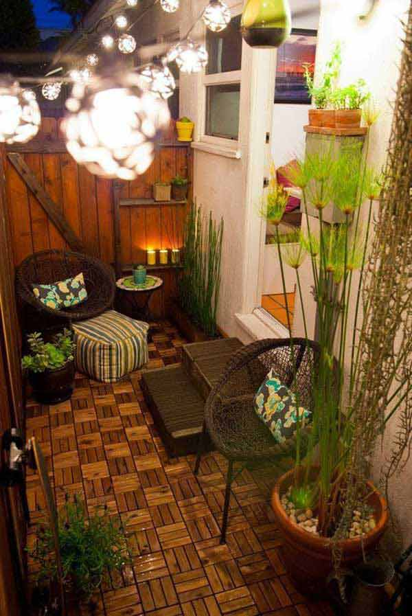 30 amazing floor design ideas for homes indoor outdoor for Ideas para decorar patios muy pequenos
