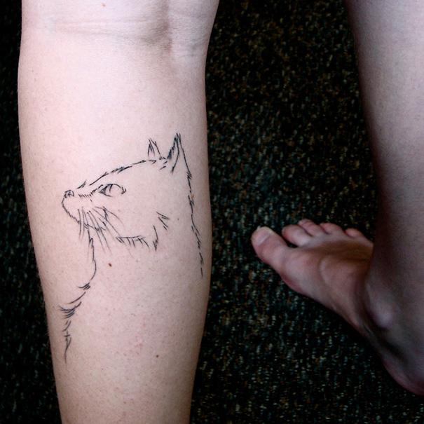 AD-Minimalistic-Cat-Tattoos-56