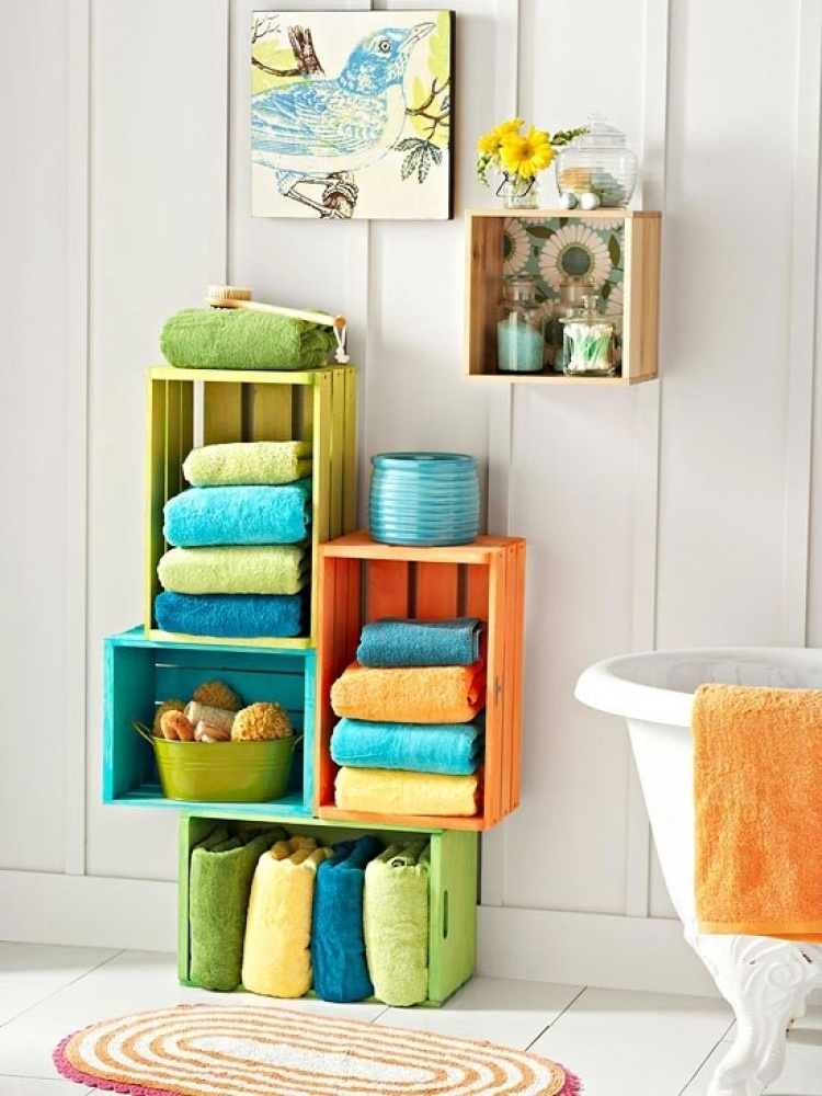 AD Creative Bathroom Towel Storage Ideas 07
