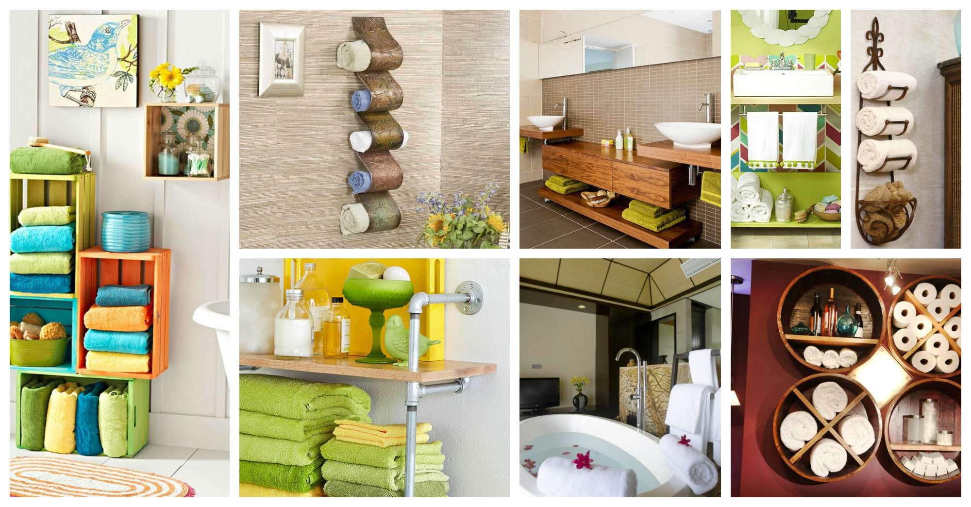 20 creative bathroom towel storage ideas - Towel Storage