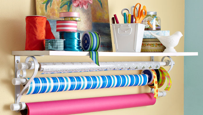 25 creative diy storage hacks 8 is perfect for all your shoes if you find yourself doing a lot of gift wrapping having an organized station like this one is crucial solutioingenieria Choice Image