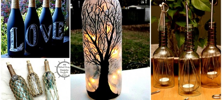 Decorate A Glass Bottle Cool 18 Diy Projects For Old Glass Bottles Inspiration