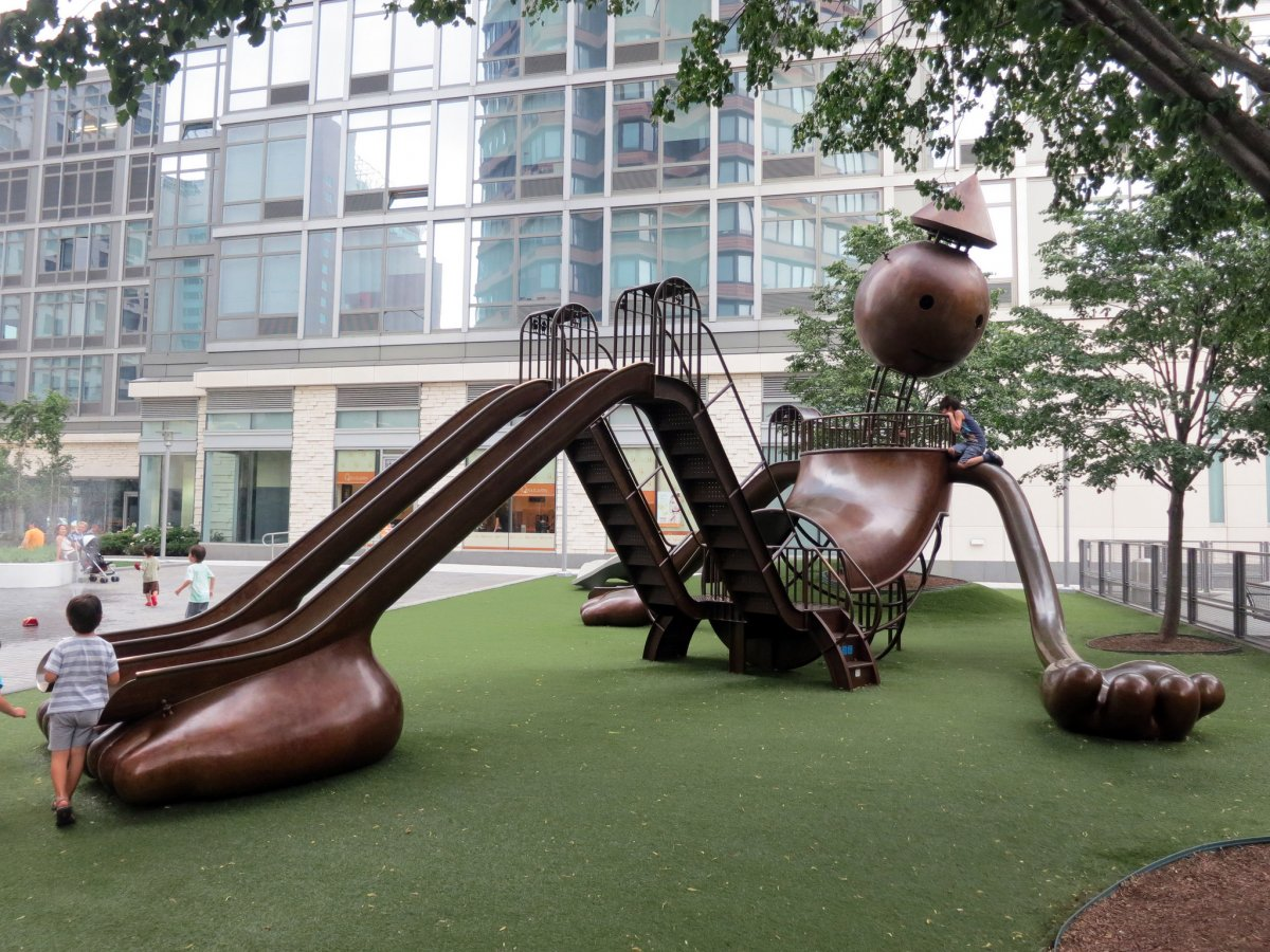 19 of the world 39 s coolest playgrounds designed by top for Modern swing set design