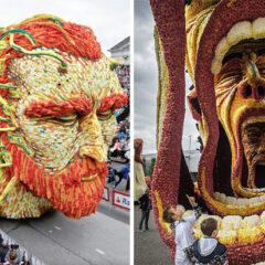 20 Giant Flower Sculptures Honour Van Gogh At World's Largest Flower Parade In The Netherlands