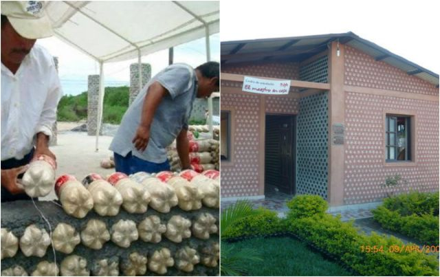 Man Builds An Amazing House With Recycled Plastic Bottles ...