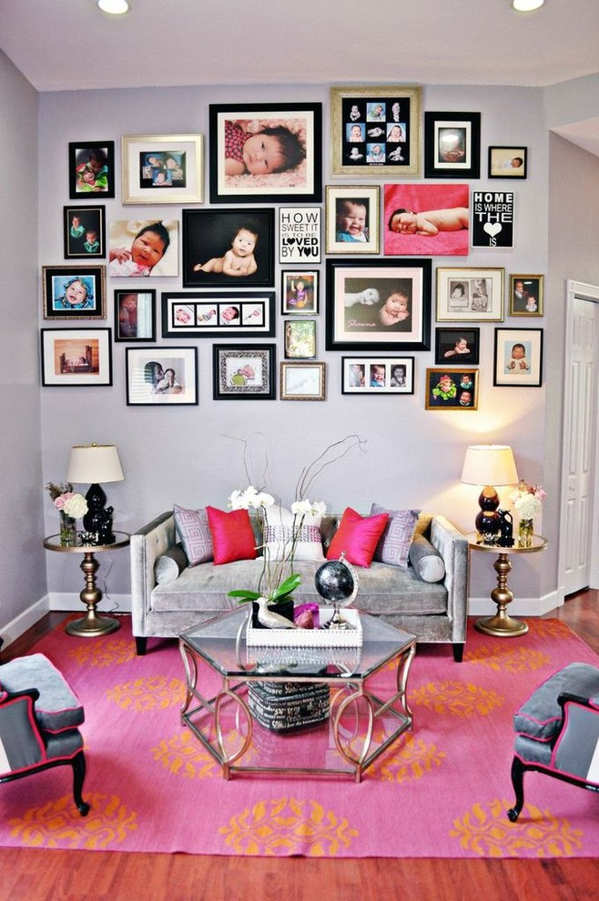 AD Cool Ideas To Display Family Photos On 50 Cool Ideas To Display Family Photos On Your Walls  . Frames For Living Room. Home Design Ideas