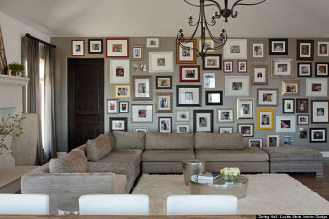 50 cool ideas to display family photos on your walls architecture rh architecturendesign net Wall Decor Living Room Living Room Stone Wall
