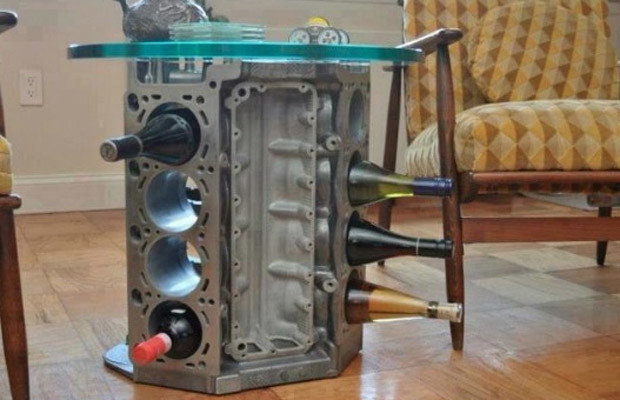 25 inventive examples of furniture made from car parts Custom furniture made car parts
