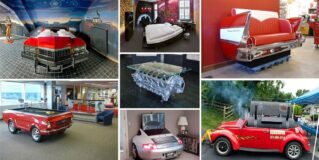 25 Inventive Examples of Furniture Made From Car Parts