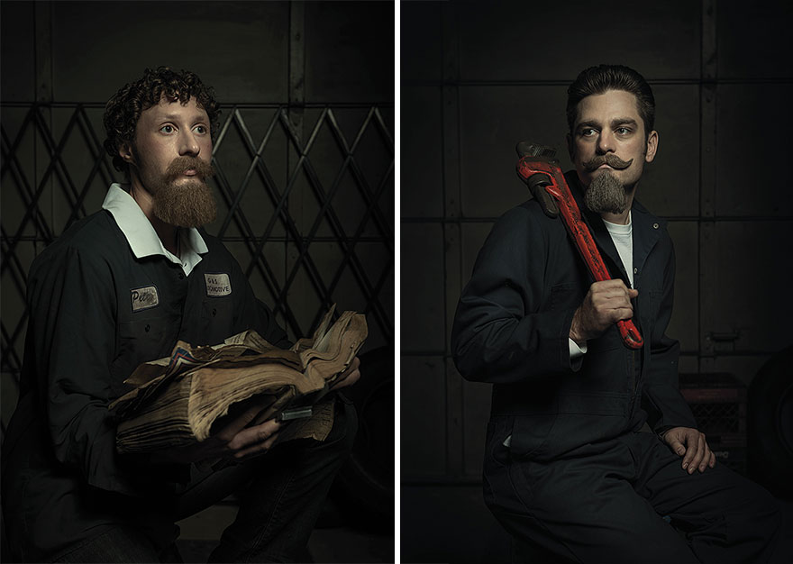 Auto Mechanics Hilariously Recreate Renaissance Paintings - Mechanics hilariously recreate renaissance paintings