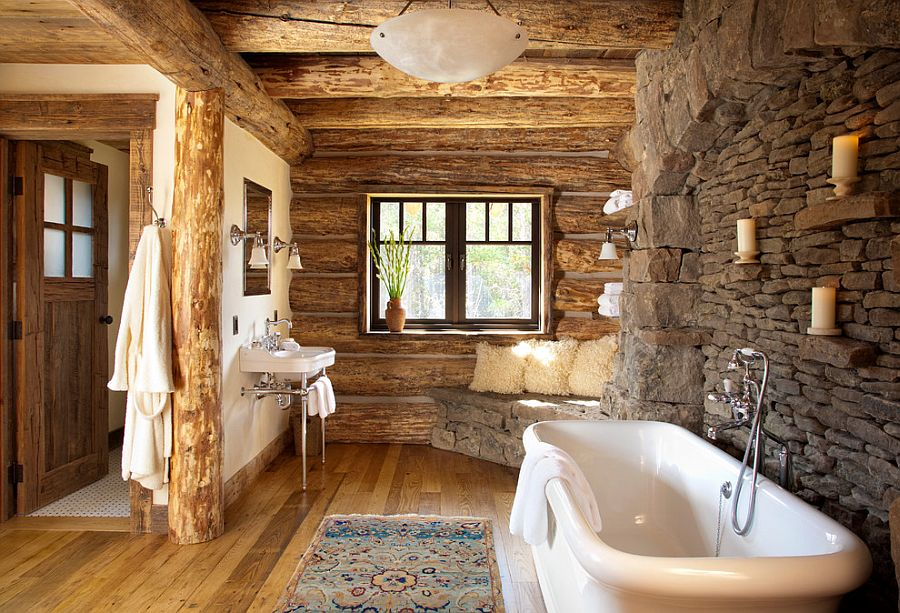 30 Exquisite & Inspired Bathrooms With Stone Walls