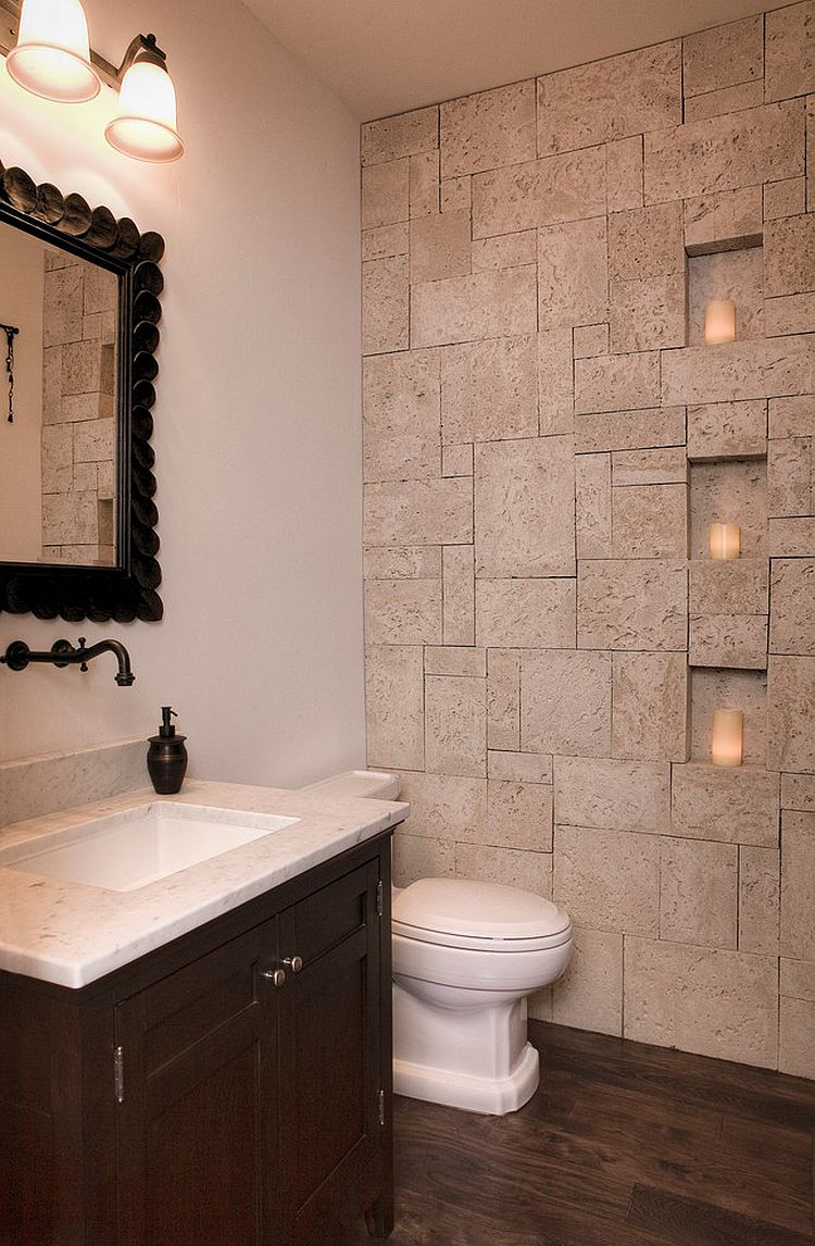 30 exquisite inspired bathrooms with stone walls - Pictures of bathroom designs ...