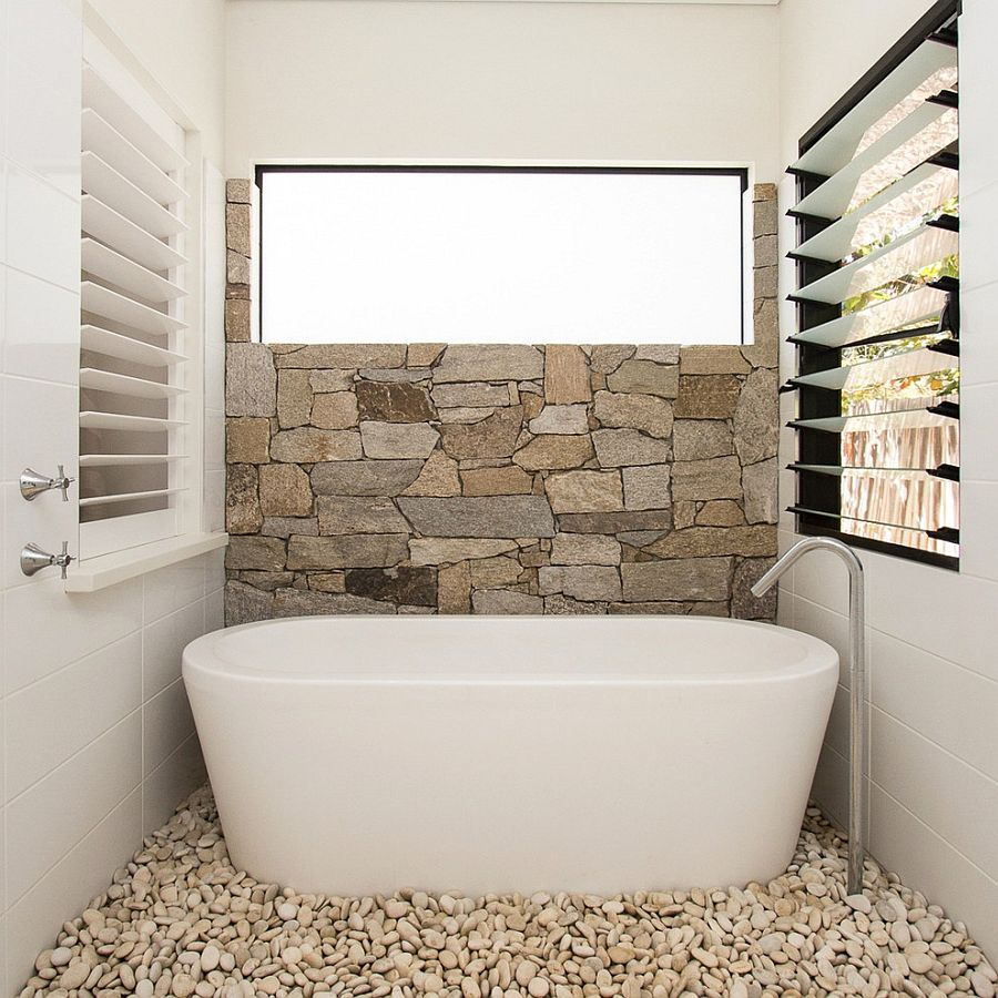 Wall Decoration Accent Wall Pebbles: 30 Exquisite & Inspired Bathrooms With Stone Walls
