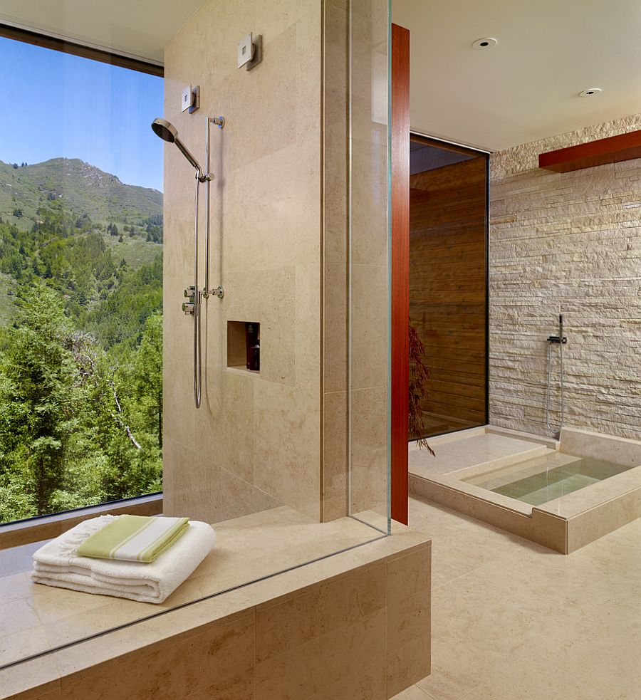 30 exquisite inspired bathrooms with stone walls How to design a modern bathroom