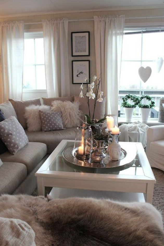 Romantic Cozy Bedroom: 20+ Super Modern Living Room Coffee Table Decor Ideas That
