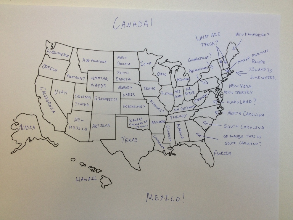 Its Thanksgiving So We Asked Brits To Label The United States - Map of the us states and capitals