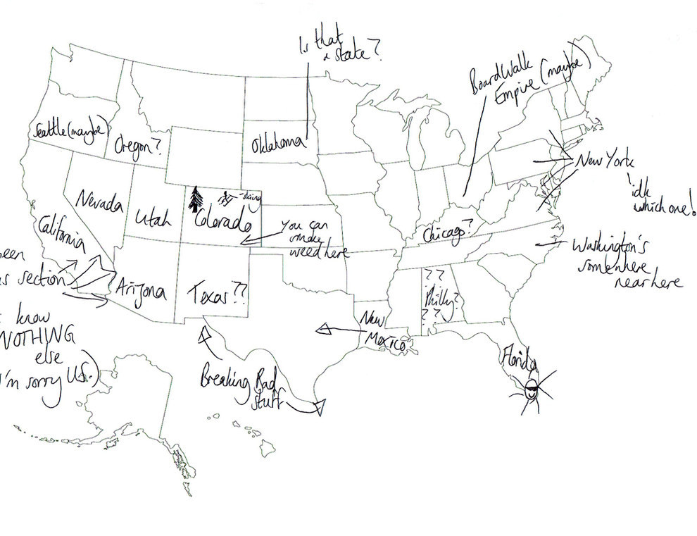 We Asked Brits To Label The United States Again Because Its A - Place the us states on the map