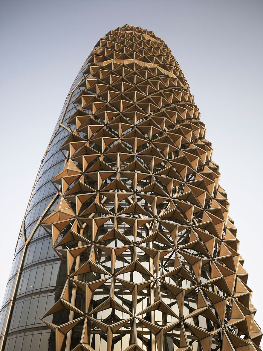 These Towers Have Shape Shifting Sunshades That React To