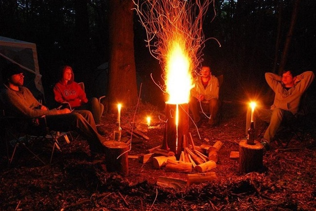How To Make An All Night Campfire With Just One Log