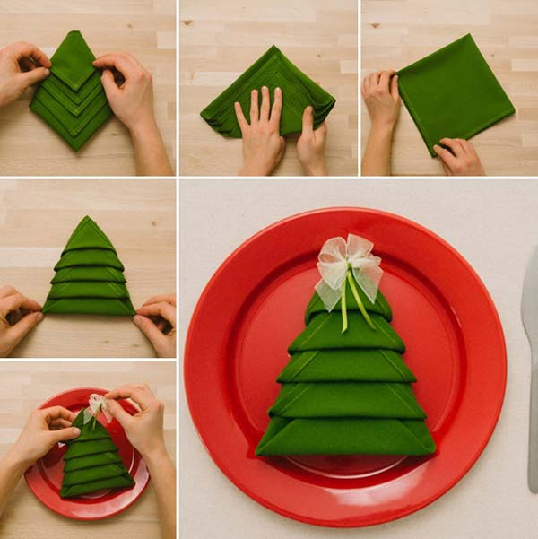 creative napkin ideas for your christmas dining table architecture design. Black Bedroom Furniture Sets. Home Design Ideas