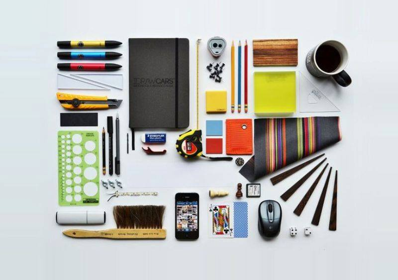 tools things architect architecture organized student architects neatly draw cars reflects grows creativity helps reality desk sketches hers thingsorganizedneatly construction